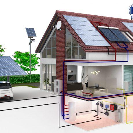 Einfamilienhaus Energieversorgung